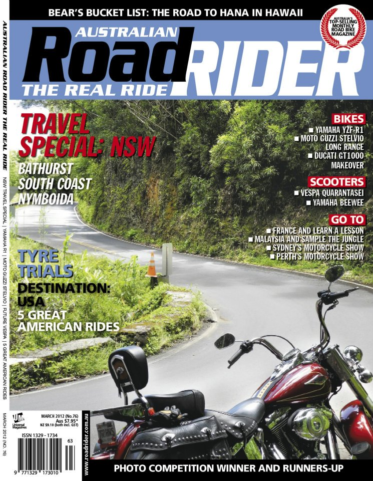 MMG in Australian Road Rider. Issue # 76