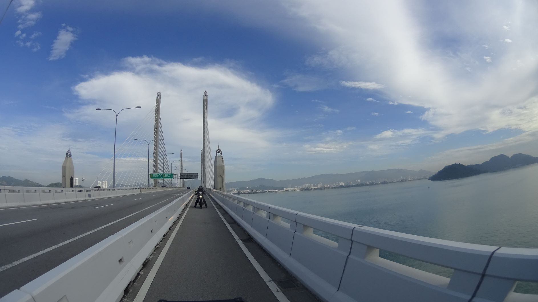Exit Penang on a 24km magnificent bridge